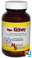 Raw Kidney, Natural Sources, 60 Capsules