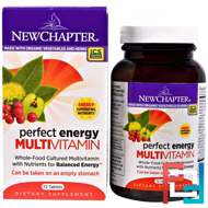 Perfect Energy Multivitamin, New Chapter, 72 Tablets