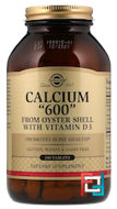 "Calcium ""600"", from Oyster Shell with Vitamin D3, Solgar, 240 Tablets"