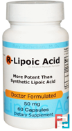 R-Lipoic Acid, 50 mg, Advance Physician Formulas, Inc., 60 Capsules
