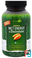 Coconut Oil, MCT Energy & Electrolytes, Irwin Naturals, 60 Liquid Soft-Gels