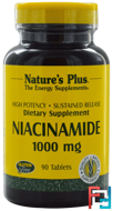 Niacinamide, Nature's Plus, 1000 mg, 90 Tablets