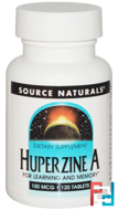 Huperzine A, Source Naturals, 100 mcg, 120 Tablets