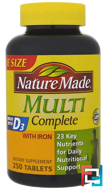 Multi Complete, With Iron, Nature Made, 250 Tablets