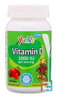 Vitamin D, Yummy Berry Flavor, 1000 IU, Yum-V's, 60 Jellies
