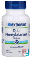 DL-Phenylalanine, Life Extension, 500 mg, 100 Veggie Caps