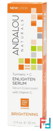 Enlighten Serum, Turmeric + C, Brightening, Andalou Naturals, 1.1 fl oz, 32 ml