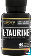 Taurine, California Gold Nutrition, 1000 mg, 60 Capsules