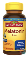 Melatonin, Nature Made, 5 mg, 90 Tablets
