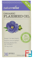 Organic Flaxseed Oil, NatureWise, 240 Softgels