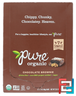 Chocolate Brownie, Pure Bar, Organic, 12 Bars, 1.7 oz (48 g) Each