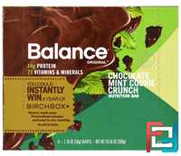 Nutrition Bar, Chocolate Mint Cookie Crunch, Balance Bar, 6 Bars, 1.76 oz (50 g) Each