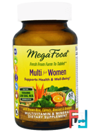 Multi for Women, MegaFood, 60 Tablets