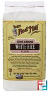 Stone Ground White Rice Flour, Bob's Red Mill, 24 oz (680 g)