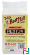 Finely Ground Potato Flour, Gluten Free, Bob's Red Mill, 24 oz (680 g)