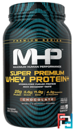 Super Premium Whey Protein, Chocolate, Maximum Human Performance, LLC, 1.87 lbs (850 g)