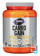 Carbo Gain, Now Foods, 907 g