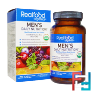 Realfood Organics, Men's Daily Nutrition, Country Life, 120 Tablets