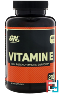 Vitamin E, Optimum Nutrition, 400 IU, 200 Softgels