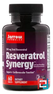 Resveratrol Synergy, Jarrow Formulas, 200 mg Total Resveratrol, 60 Tablets