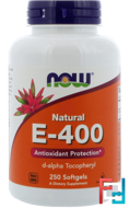 Natural E-400, Now Foods, 250 Softgels