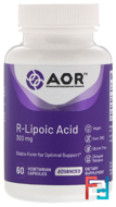 High Dose R-Lipoic Acid, Advanced Orthomolecular Research AOR, 60 Veggie Caps
