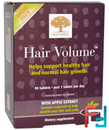 Hair Volume With Apple Extract, New Nordic US Inc, 90 Tablets