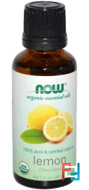 Organic Essential Oils, Lemon, Now Foods, 30 ml