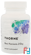 Basic Nutrients 2/Day, Thorne Research, 60 Vegetarian Capsules