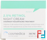 2,5 % Retinol Night Cream, Cosmedica Skincare, 50 g