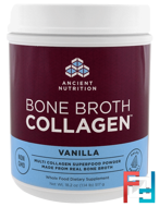 Bone Broth Collagen, Vanilla, Dr. Axe / Ancient Nutrition, 18.2 oz, 517 g