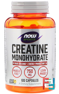 Creatine Monohydrate, Now Foods, 750 mg, 120 capsules