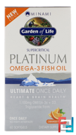 MorEPA Platinum, Ultimate Once Daily Omega-3 + D3 Formula, Orange Flavor, Minami Nutrition, 60 Softgels