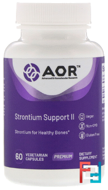 Advanced Series, Strontium Support II, Advanced Orthomolecular Research AOR, 60 Veggie Caps