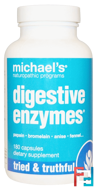 Digestive Enzymes, Michael's Naturopathic, 180 Capsules