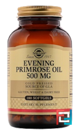 Evening Primrose Oil, Solgar, 500 mg, 180 Softgels