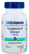 Grapeseed Extract, Life Extension, 100 mg, 60 Vegetarian Capsules
