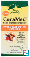 Terry Naturally, CuraMed, 750 mg, EuroPharma, 120 Softgels
