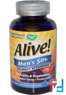 Alive! Men's 50+ Multi-Vitamin Multi-Mineral, Nature's Way, 75 Gummies