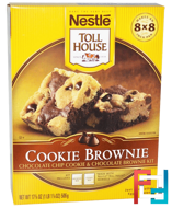 Cookie Brownie, Chocolate Chip Cookie & Chocolate Brownie Kit, Nestle Toll House, 17 7/8 oz (506 g)