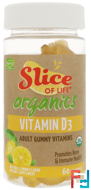 Slice of Life Organics, Vitamin D3, Lemon Flavor, Hero Nutritional Products, 60 Gummies