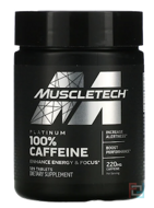 Platinum 100% Caffeine, Essential Series, Muscletech, 220 mg, 125 Tablets