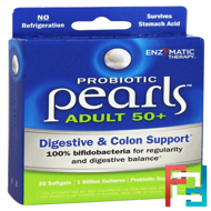 Probiotic Pearls Adult 50+, Enzymatic Therapy, 30 Softgels