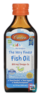 Kid's,The Very Finest Fish Oil, Natural Orange Flavor, Carlson Labs, 6.7 fl oz (200 ml)