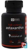 High Potency Astaxanthin, 12 mg, Sports Research, 60 Veggie Softgels