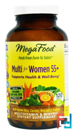 Multi for Women 55+, MegaFood, 120 Tablets