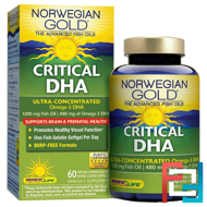 Critical DHA, Natural Orange Flavor, Renew Life, 60 Enteric-Coated Softgels