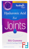 Hyaluronic Acid for Joints, HA Gummy, Berry Flavor, Hyalogic LLC, 60 HA Gummies