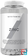 Zinc (Цинк), Myprotein, 15 mg, 90 tablets