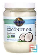 Raw Extra Virgin Coconut Oil, Garden of Life, 29 fl oz, 858 ml